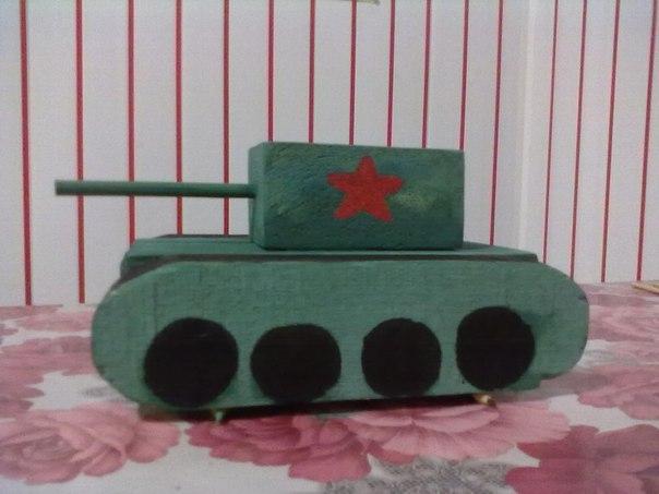 Поделки к 9 маю танк